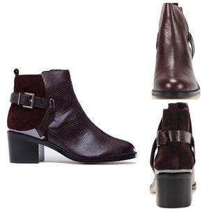 Senso Shoes: India 1 Bordo Bootie Brown Boots Sz 8